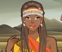Afrikalı Kıza Makyaj Yap