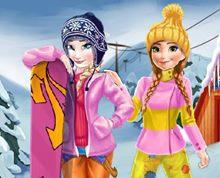 Anna ve Elsa Kış Tatilinde
