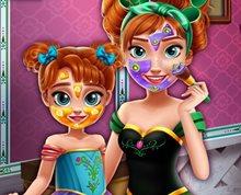Anna ve Kızına Gerçek Makyaj