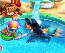 Arap Prensesinin Havuz Keyfi
