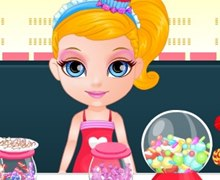 Barbie Bebek Şeker Dükkanında