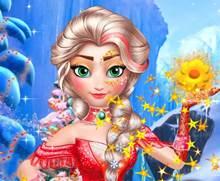 Buz Kraliçesine Noel Makyajı Yap