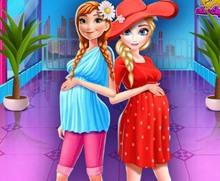 Elsa ve Anna Hamilelik Alışverişi