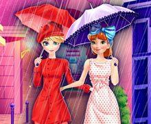 Elsa ve Anna Pariste Alışveriş Yapıyor