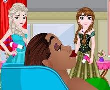 Elsa ve Anna'nın Kuaför Salonu