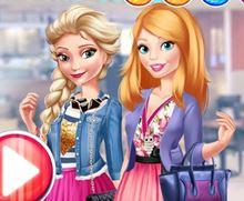 Elsa ve Barbie Buluşmaya Hazırla
