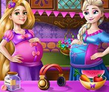 Elsa ve Rapunzel Hamile Elbisesi Giydir