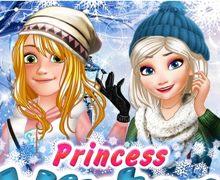 Elsa ve Rapunzel Kış Modası