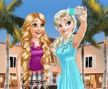 Elsa ve Rapunzel Selfie