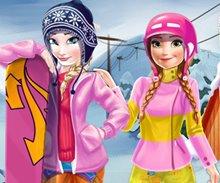 Kayakçı Anna Ve Elsa