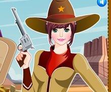 Kovboy Kız Giydir