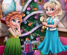 Kız Kardeşlerin Noel Hazırlığı