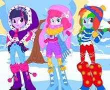 Pony Kızlar Kış Modası