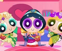 Powerpuff Disney Kızlarını Giydir