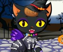 Yavru Kedi Cadılar Bayramı Hazırlığı